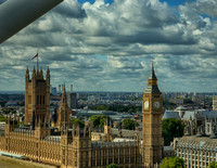 View of Parliment from the London Eye